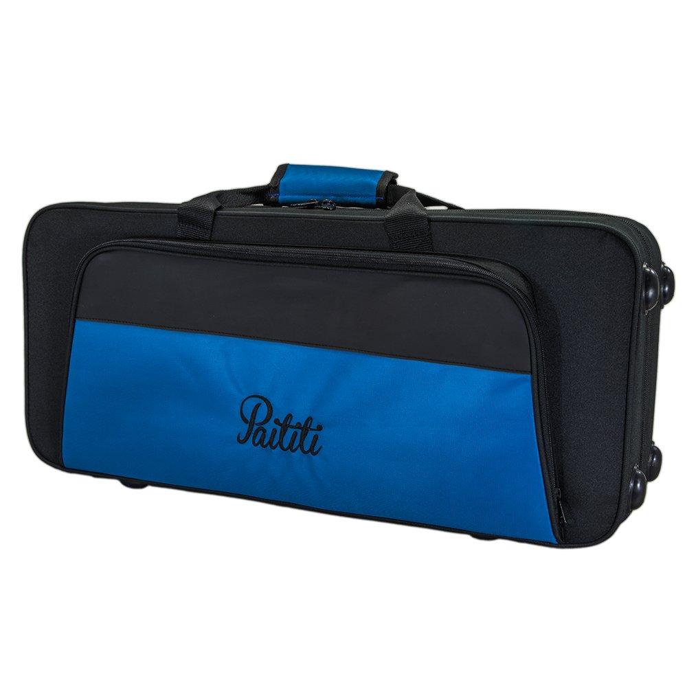 Paititi PTTRLW101 Lightweight Trumpet Case Strong with Backpack Straps, Black/Blue Sky Music