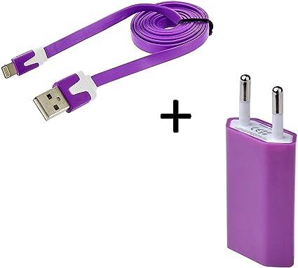 Shot Case Cable Noodle Cargador con Enchufe para iPhone X USB ...