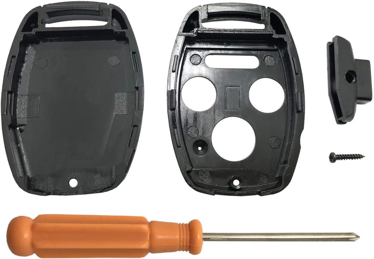Pack 2 Keyless Entry Key Fob Case Cover fits for Honda 2003-2012 Accord Civic Hybrid EX CR-V Pilot EX SE 2005-2006 Pilot 2009-2015 Element Key Fob Shell