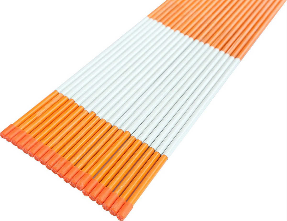 FiberMarker 60-Inch Reflective Driveway Markers Orange 20-Pack 5/16-Inch Dia Solid Driveway Poles for Easy Visibility at Night ... by FiberMarker (Image #7)