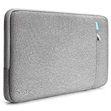 Tomtoc 360° Protective Sleeve for 15 Inch New MacBook Pro Retina with Touch Bar 2017 (A1707) | 15 Inch ThinkPad Laptop, Shockproof Spill-Resistant Laptop Case Tablet Bag, Gray