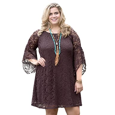 230d8866d3f9 Amazon.com  Chocolate Cowgirl Social Plus Dress  Clothing