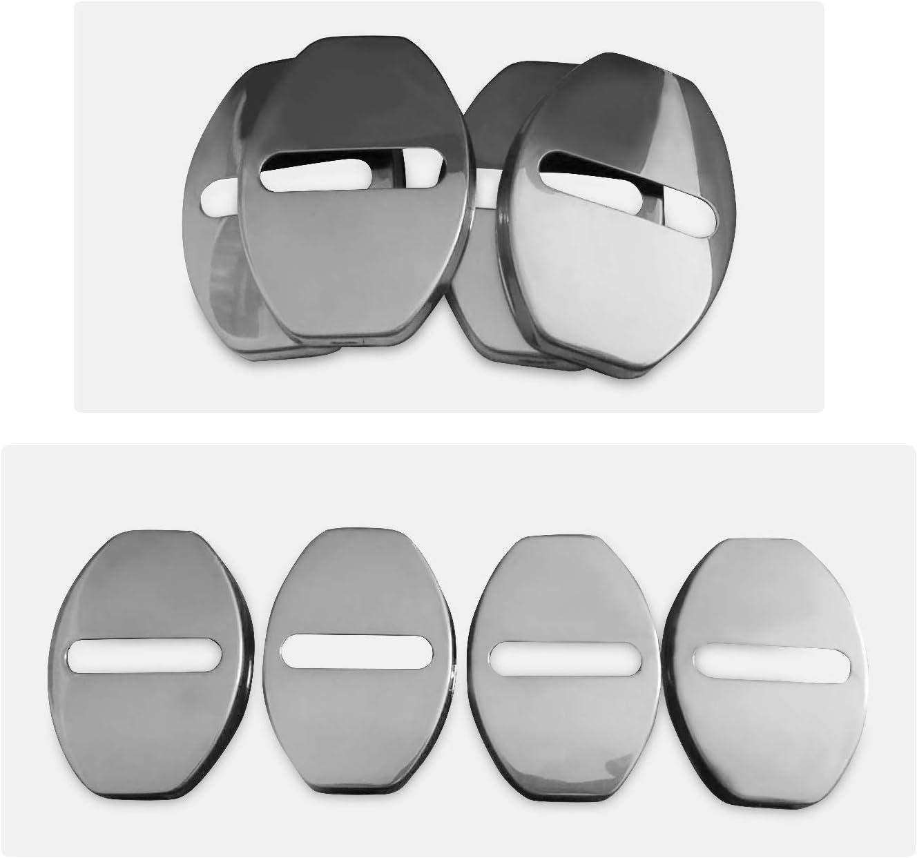 Areyourshop colore: argento e nero Set copri maniglia per portiera auto per Au-di S6 A6 2005-2009