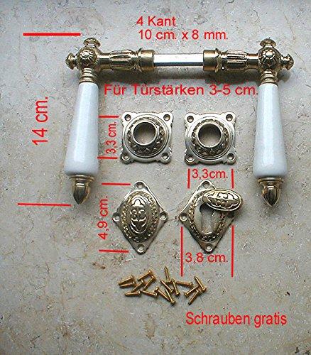 Graf von Gerlitzen Antik Eisen T/ür Griffe T/ürgriffe Rosetten PZ T/ürbeschlag Klinke WW4E