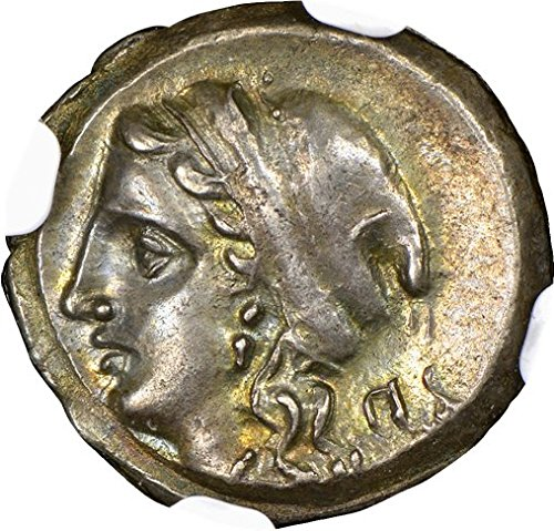 GR 350-280 BC Ancient Greece Corinth Antique Silver Coin Rare Greek Coins AR Drachm Choice About Uncirculated NGC