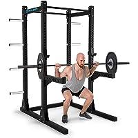 Capital Sports Bestride - Power Rack, Station Entrainement, Multifonction, Supports de sécurité, J-Cup, 2 Barres Pull-Up Bars, Protections Antichoc, 184 x 225 x 170 cm, Acier, Noir