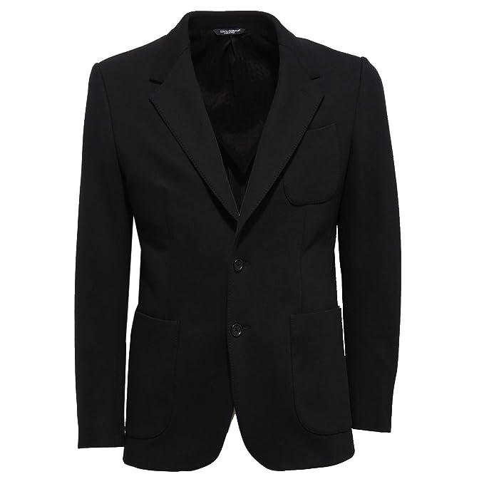 5630d9f950 Dolce & Gabbana 7212X Giacca Uomo Black Jacket Cotton Man [48 ...
