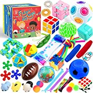 Sensory Toys Set 38 Pack, Stress Relief Fidget Hand Toys for Adults and Kids, Sensory Fidget and Squeeze Widge