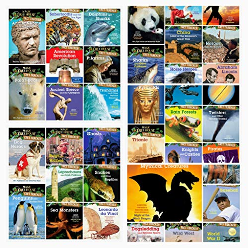 (Magic Tree House Fact Trackers Complete 38 Book Set Collection Series (Includes Wild West, Baseball, World War II, Dragons and Mythical Creatures, Dogsledding and Extreme Sports, Vikings, Sharks and.))