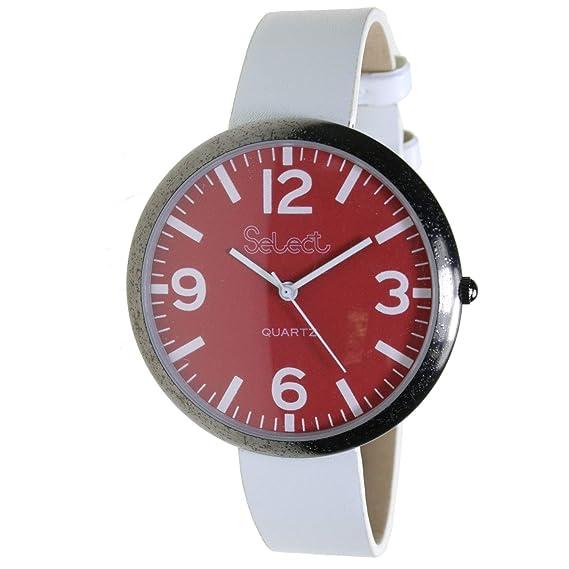 Select Co-8 Reloj Analogico para Mujer Caja De Metal Esfera Color Rojo: Amazon.es: Relojes