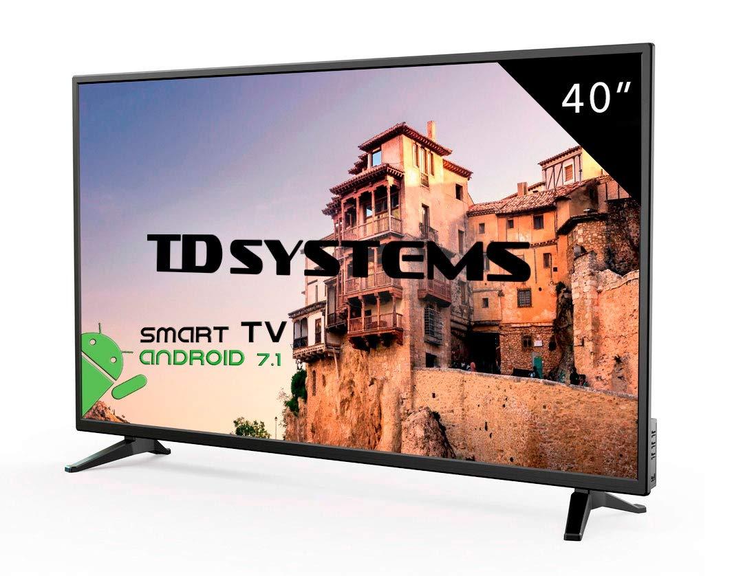 Televisor Led 40 Pulgadas Full HD Smart, TD Systems K40DLM8FS ...