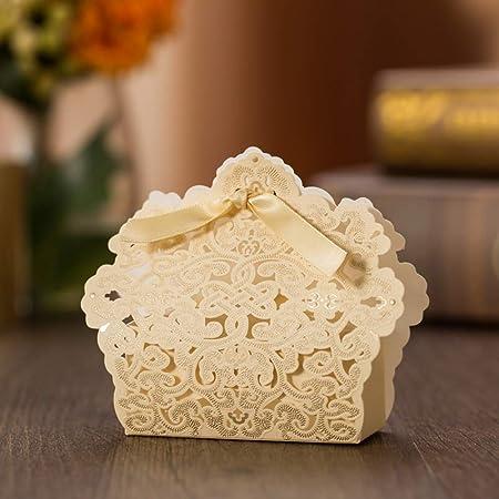 Jindowine - Caja de Caramelos de Fibra dida, Caja de cartón, para embalar y Montar para Decorar Bodas, Fiestas de cumpleaños, 20 Unidades: Amazon.es: Hogar