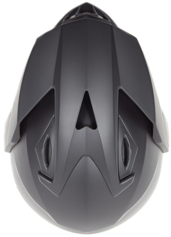 Dual Sport Snocross Snowmobile Helmet w/ Electric Heated Shield - Matte Black - XL by Typhoon Helmets (Image #6)