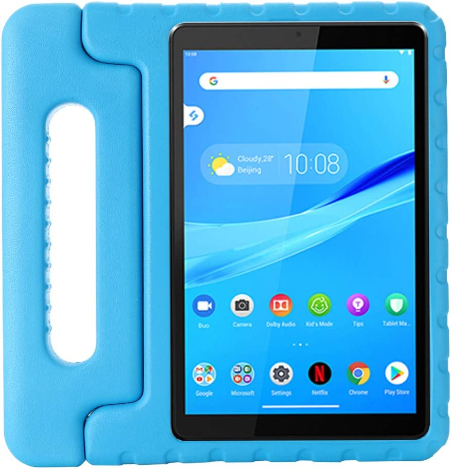 i-original Compatible with Lenovo Tab M8(TB-8705F) 8 Inch Case,Shockproof EVA Case for Kids Bumper Cover Handle Stand,Convertible Handle Lightweight Protective Cover (Blue)