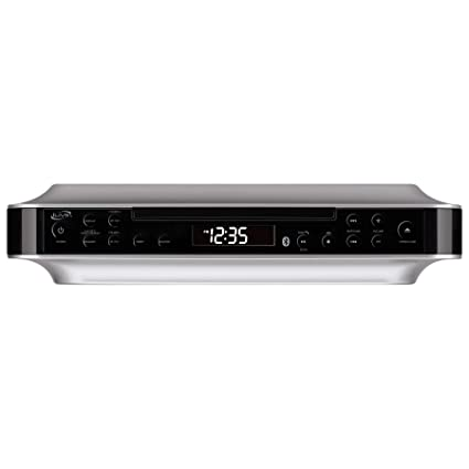 Ilive Bluetooth Under The Cabinet Radio Cd Player Bluetooth Usb Aux In Mp3 Cd Wireless Music System With Kitchen Timer Digital Clock And Hands
