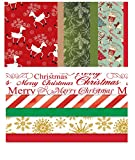 Kraft and Non-Kraft Tissue Paper Printed with Christmas Designs - Multi-Packs (1 Christmas Foil Accents + 1 Retro Kraft Gift Tissue Paper, 2-Pack)