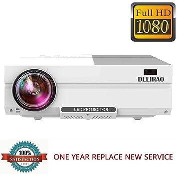 Amazon.com: deeirao 1080P Full HD LCD proyector de cine en ...