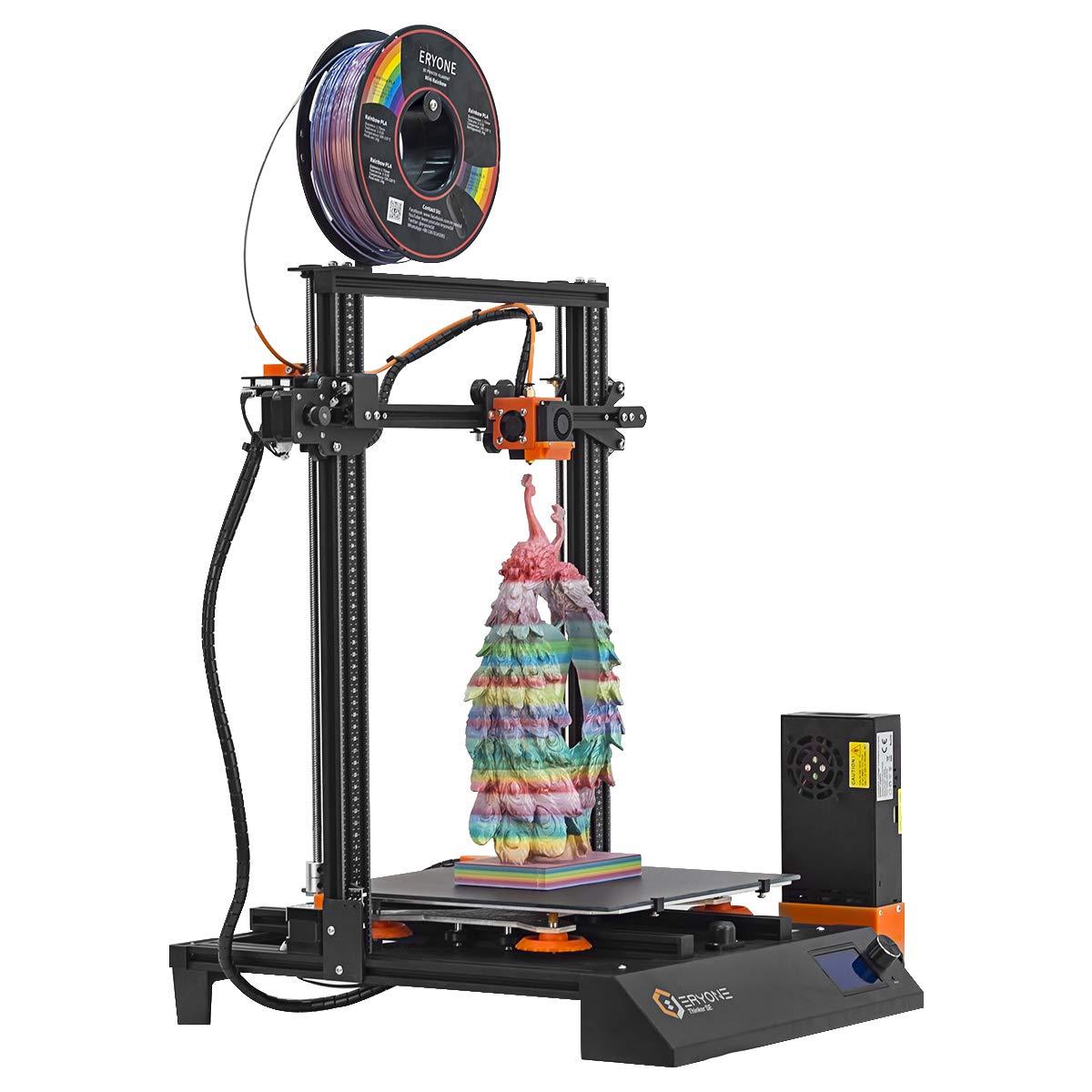 Magn/ética y Flexible Tama/ño de Impresi/ón 300x300x400 mm Extrusora y Plataforma de Impresi/ón Superficie de Impresi/ón PEI S/úper Silenciosa Eje XYZ Mejorado Impresora 3D Eryone Thinker S