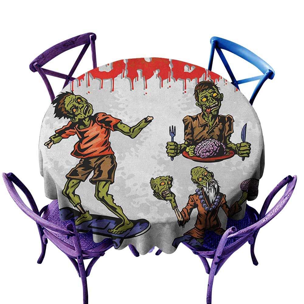 familytaste Zombie, Mantel Redondo D de 54 Pulgadas para ...