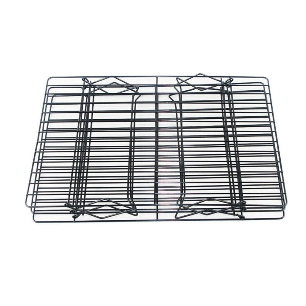Bakeable Cooling Rack, 3-tier Bakeable Nonstick Cooling Rack Carbon Steel Stackable Wire Cookie Cake Cooling Rack for Bread and Other Baked Food, Stable Legs, Oven Safe, 15.79.8'' by Aolvo (Image #3)