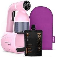 MineTan brons babe personlig spray solbränna kit rosa – bärbar, hemma spray solbränna maskin med spray solbränd lösning…