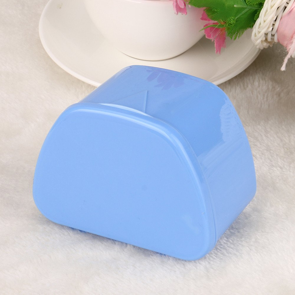 Hohaski Denture Bath Appliance False Teeth Box Storage Case Rinsing Basket Professional Dental Supplies Color Random(White, Blue & Pink) by Hohaski (Image #5)