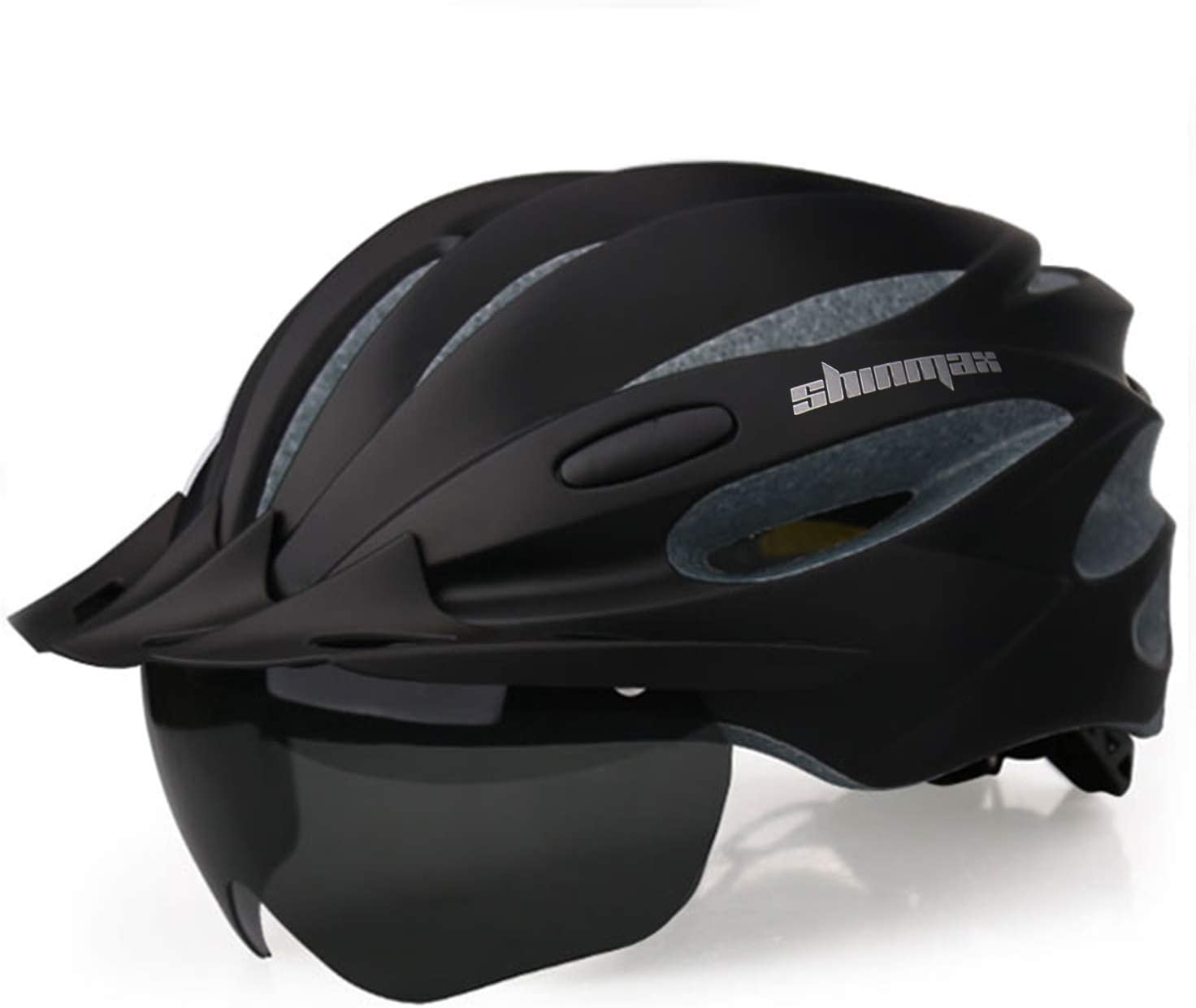 Bike Helmet, Shinmax Bicycle Helmet Cpsc&Ce Certified with USB Charging Light&Detachable Magnetic Goggles&Removable Sun Visor&Portable Bag Adjustable Cycling Helmet
