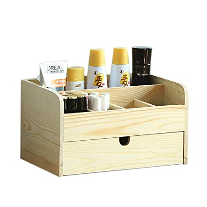 Amazon.com Makeup Organizers Wooden Desktop Small Drawer