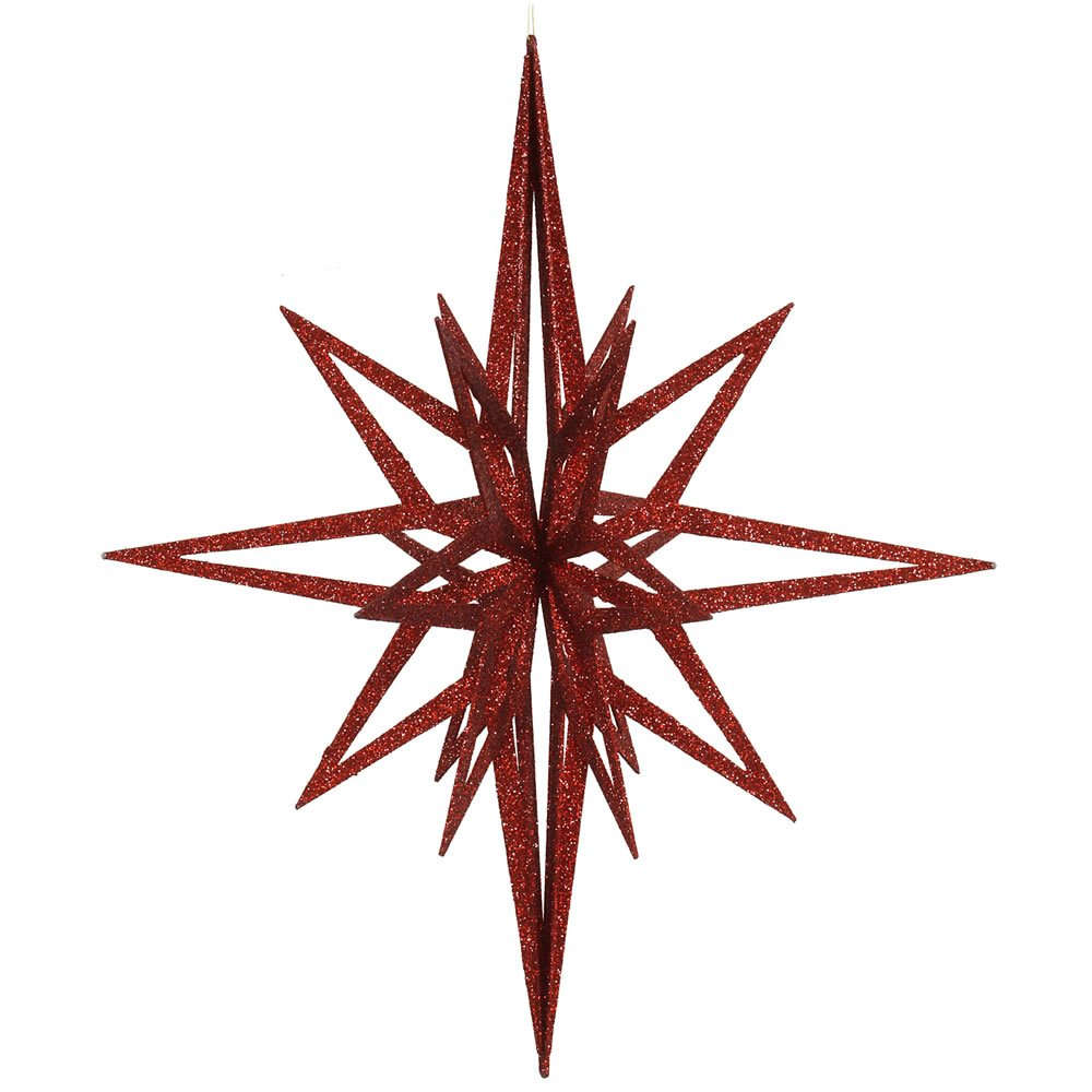 Vickerman 32' Silver Iridescent 3D Glitter Star M148507