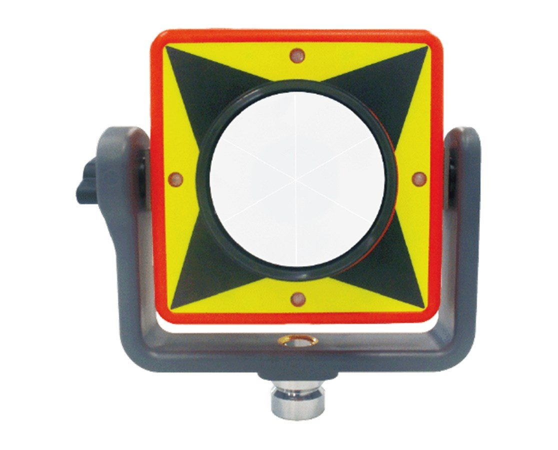 AdirPro LED Flashing Prism for Long Distance, Mining Sites and Night Work - Works with Trimble, Sokkia, Topcon, Leica, Nikon and Pentax Total Stations