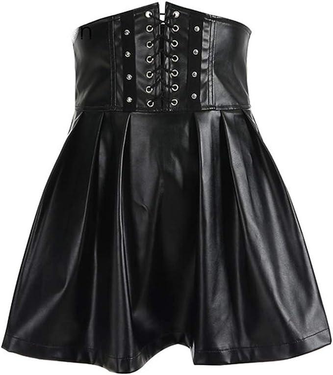 no problem Faldas góticas de Piel sintética para Mujer, Sexy, con ...