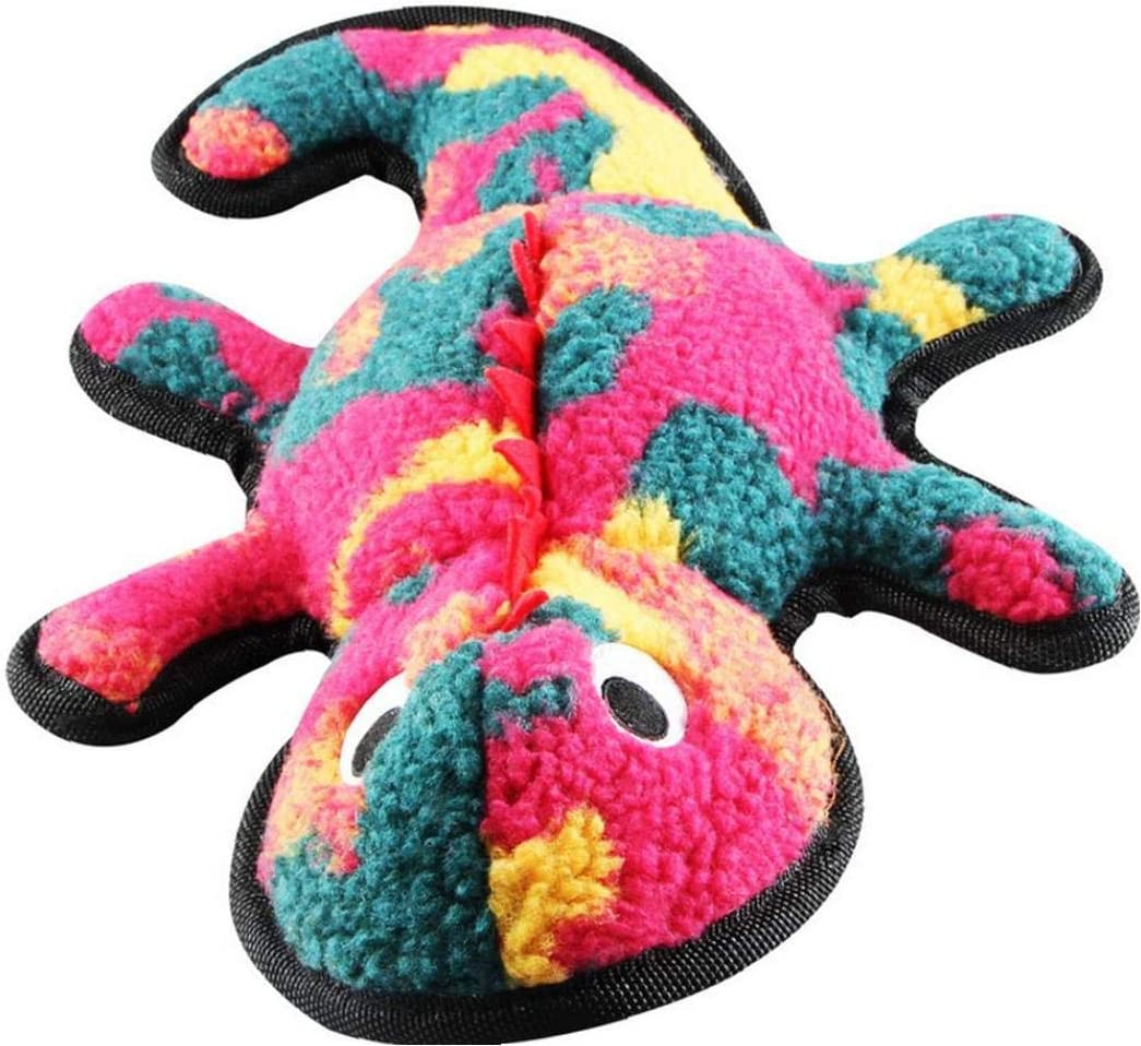tJexePYK Dog Squeaky Toys Gecko Design Stuffed Plush Toy Interactive Toys For Puppy Small Medium Dog Pets 1PC