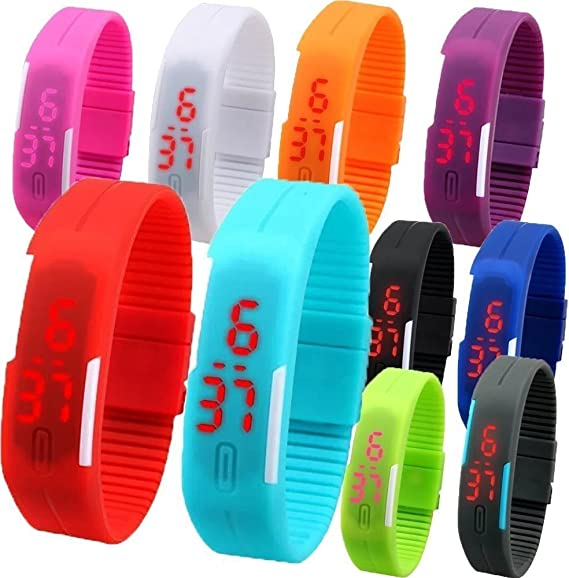 Buy Pappi Boss Digital Multicolour Birthday Return Gift Set Of 12 LED Bands For Kids