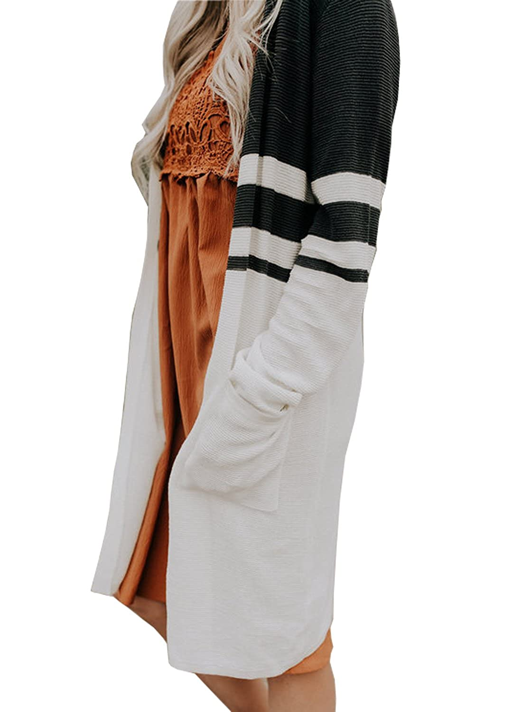 d1b596b6d41 Top4  Lovezesent Women s Geometric Knit Oversized Drape Cardigan Christmas  Sweaters