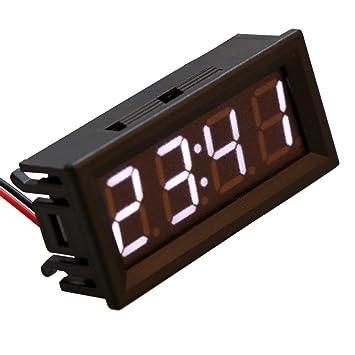 sunhoyu 0,56digital Temperatura, Electrónicos Reloj Temperatura Voltaje metro LED 12 V 24
