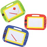 Magnetic Drawing Board For Kids - Pack of 3, Travel Size Magna Doodle Writing and Drawing Board for Kids, Erasable Magnetic Sketcher Tablet Children Love by Educational Toys for Babies by Bedwina