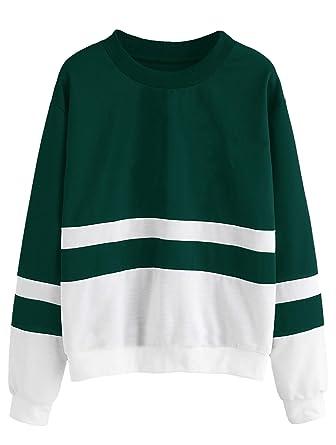 86eea498738 FashMind Solid Green White Sweatshirt for Women  Amazon.in  Clothing ...