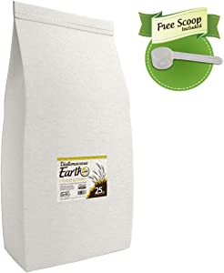 Diatomaceous Earth 25 Lbs Food Grade DE - Includes Free Scoop