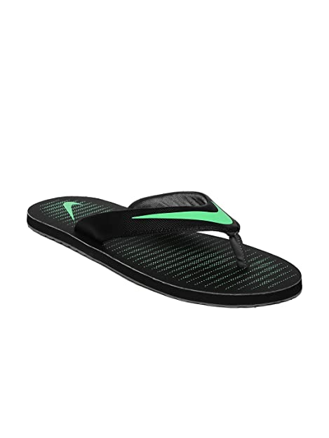 d33e782b100 Nike Chroma Thong 5 Black Electro Green Slippers for Men-Uk-9  Buy Online  at Low Prices in India - Amazon.in