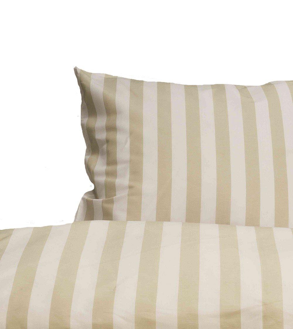 Driessen  Leinen Bettwäsche Streifen Traumflachs-Grande, weiß natur (2-tlg. 80x80 135x200 cm)