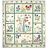Patch Magic Queen Wildflower Quilt, 85-Inch by 95-Inch