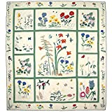 Patch Magic Twin Wildflower Quilt, 65-Inch by 85-Inch