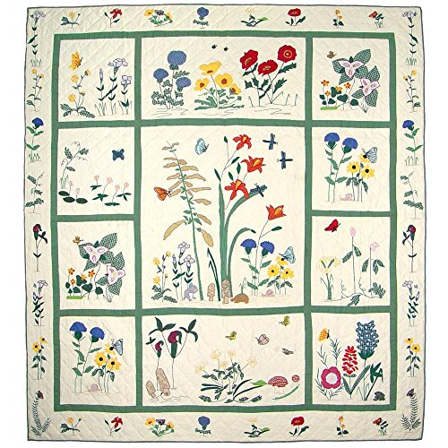 (Patch Magic Queen Wildflower Quilt, 85-Inch by 95-Inch)
