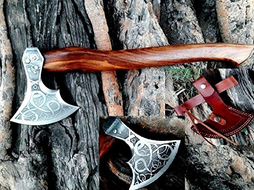 (MDM VINTAGE TOMAHAWK BEARDED AXE HAND FORGED VIKING STYLE HATCHET COMBAT AXE THE ORIGINAL WAS INSCRIBED WITH IRELAND GOTHIC DESCRIPTINS. FROM THE 14-15 CENTRURY)