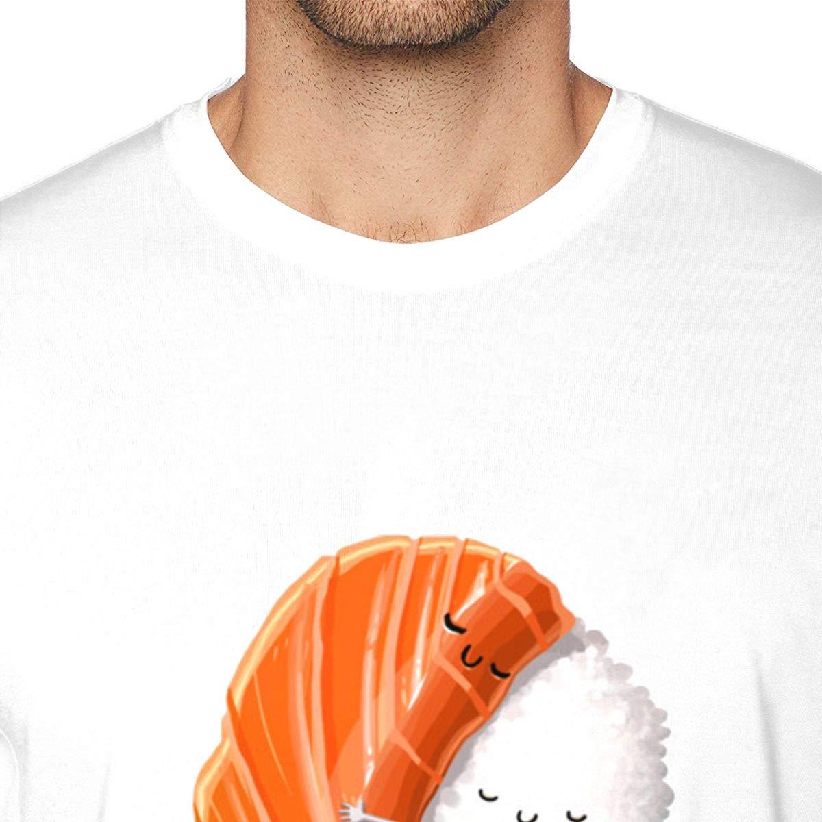 Sushi Mens Crew Neck Short Sleeve T-Shirt Casual Shirt for Men