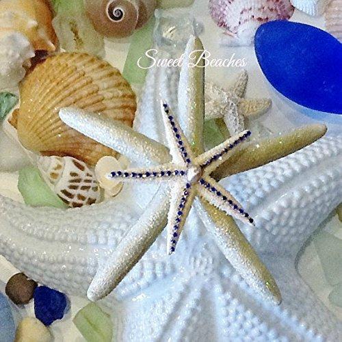 Shimmering golden starfish Beach Nautical Decor Wedding Sea (Shimmering Decor)