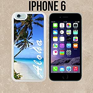 Aloha Hawaiian Beach Custom made Case/Cover/Skin for iPhone 6 - White - Rubber Case (Ships from CA) by runtopwell