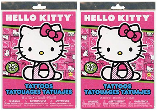 Hello Kitty Tattoos (Birthday Gifts or Party Favors (50 ct, Hello Kitty Temporary Tattoos))