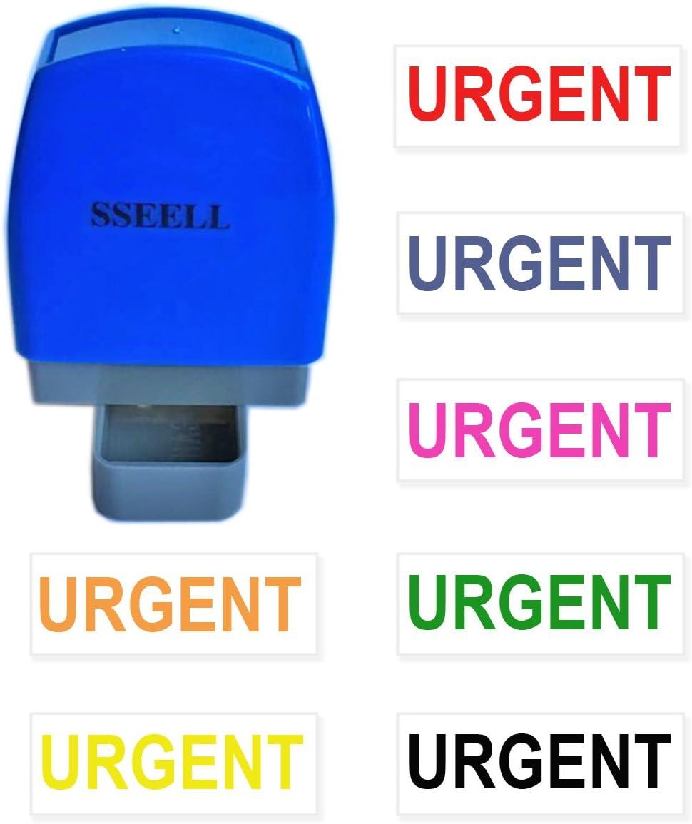 color Blue Ink sseell revisado Flash sello de goma auto entintado sello Re-Inkable trabajo de oficina empresa escuela estacionaria sellos con marco l/ínea muchos colores disponible