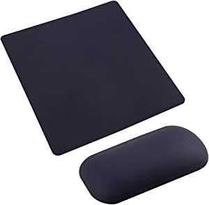 Mouse Pad with Wrist Support, Antswish Computer Mouse Pad with Premium-Textured Real Skin Touch Non-Slip Silicone Base, Ergonomic Wrist Rest Mouse Pad for Laptop Desktop Mac (Navy Blue)